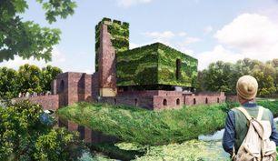 Impressie van restauratie, herbouw en ontwikkeling van Kasteel Huys te Horst in Horst in het centrum van Afslag 10